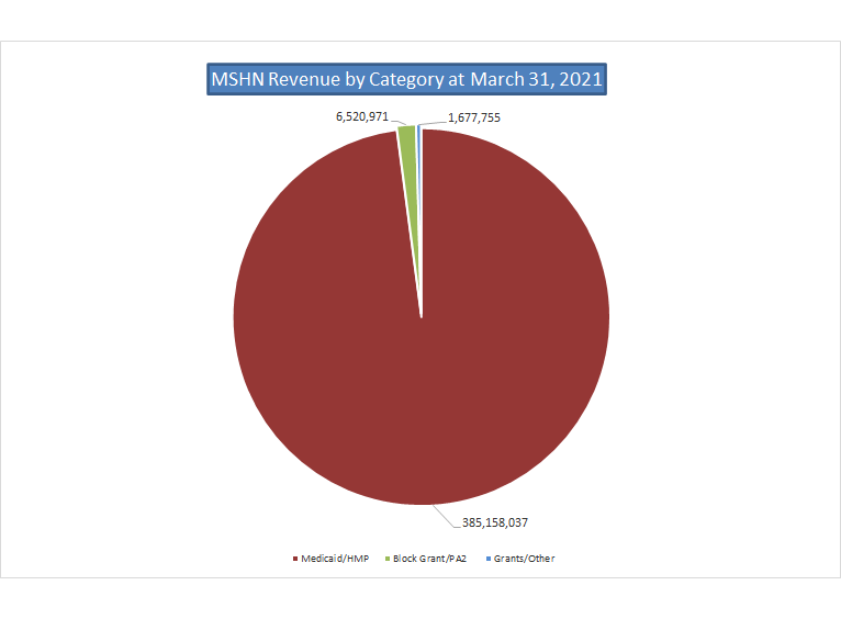 Mid-State Health Network Revenue by Funding Source